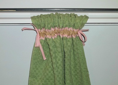 kitchen towel hanger craftsman hardware making a tied hanging thriftyfun finished