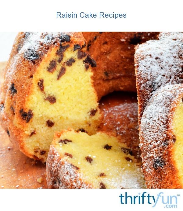 Raisin Cake Recipes  ThriftyFun