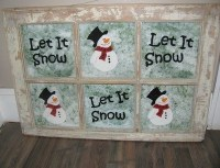 "Making a ""Let It Snow"" Window Frame"