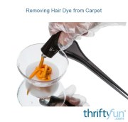 removing hair dye carpet