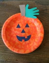 Making a Paper Plate Jack-O'-Lantern | ThriftyFun