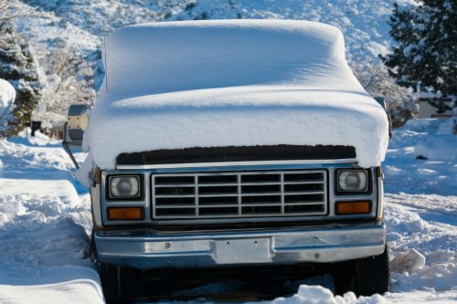 small resolution of snow covered truck