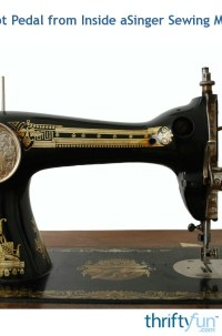 Removing Foot Pedal from Inside a Singer Sewing Machine ...