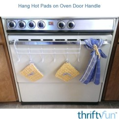 Kitchen Hot Pads Ceiling Lights For Hang On Oven Door Handle Thriftyfun