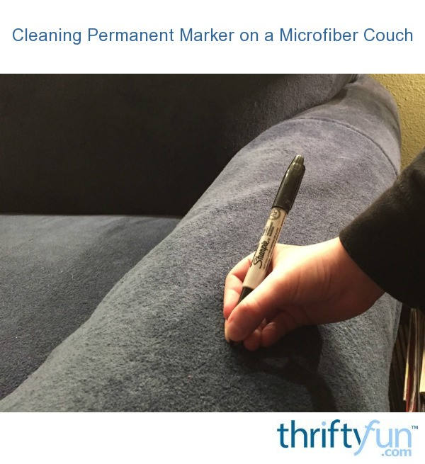 cleaning fabric sofa stains covers for l shaped permanent marker on a microfiber couch   thriftyfun