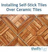 Installing Self-Stick Tiles Over Ceramic Tiles | ThriftyFun