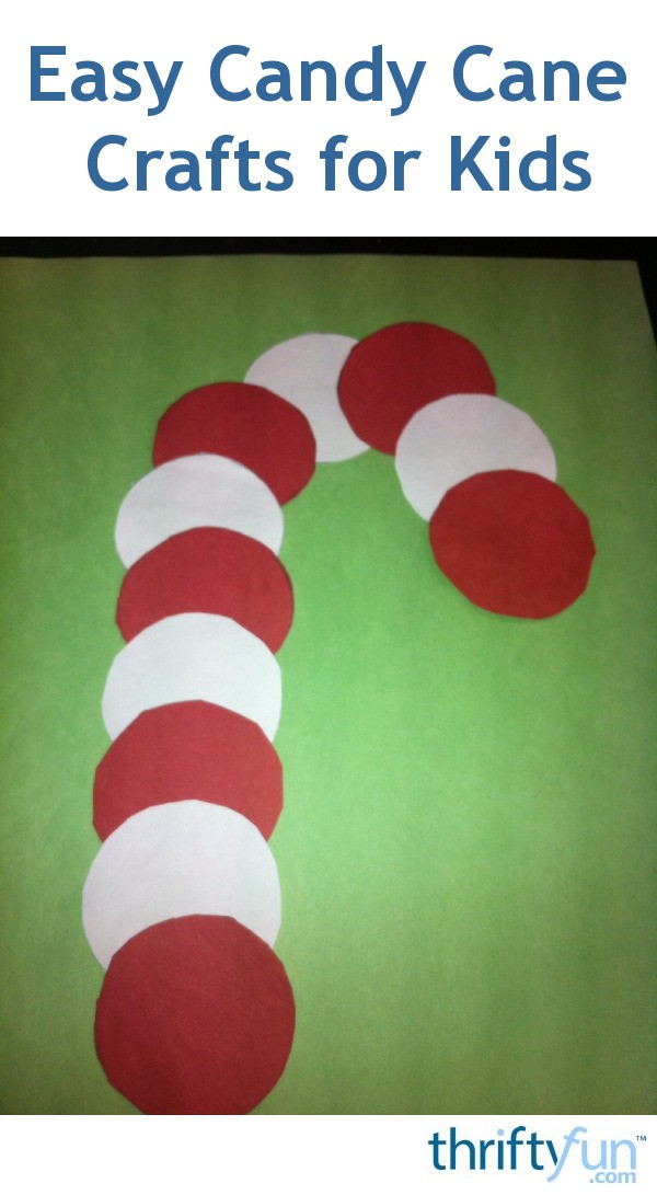 Candy Cane Shaped Crafts For Kids ThriftyFun
