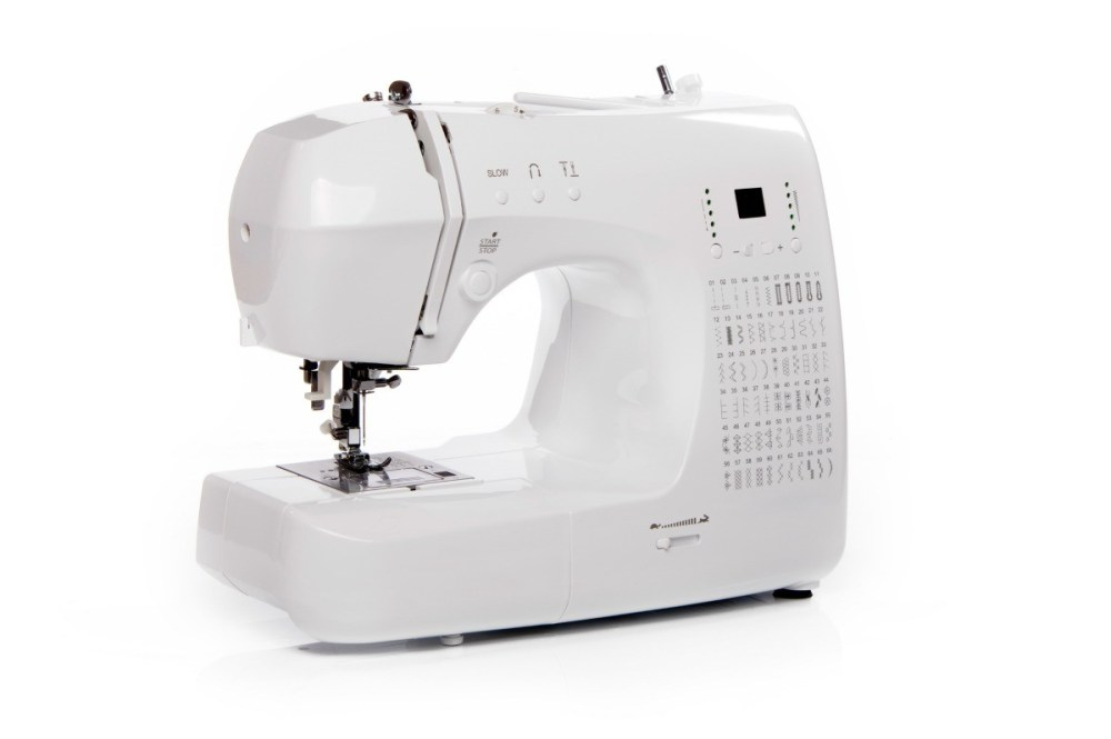 medium resolution of a sewing machine on a white background