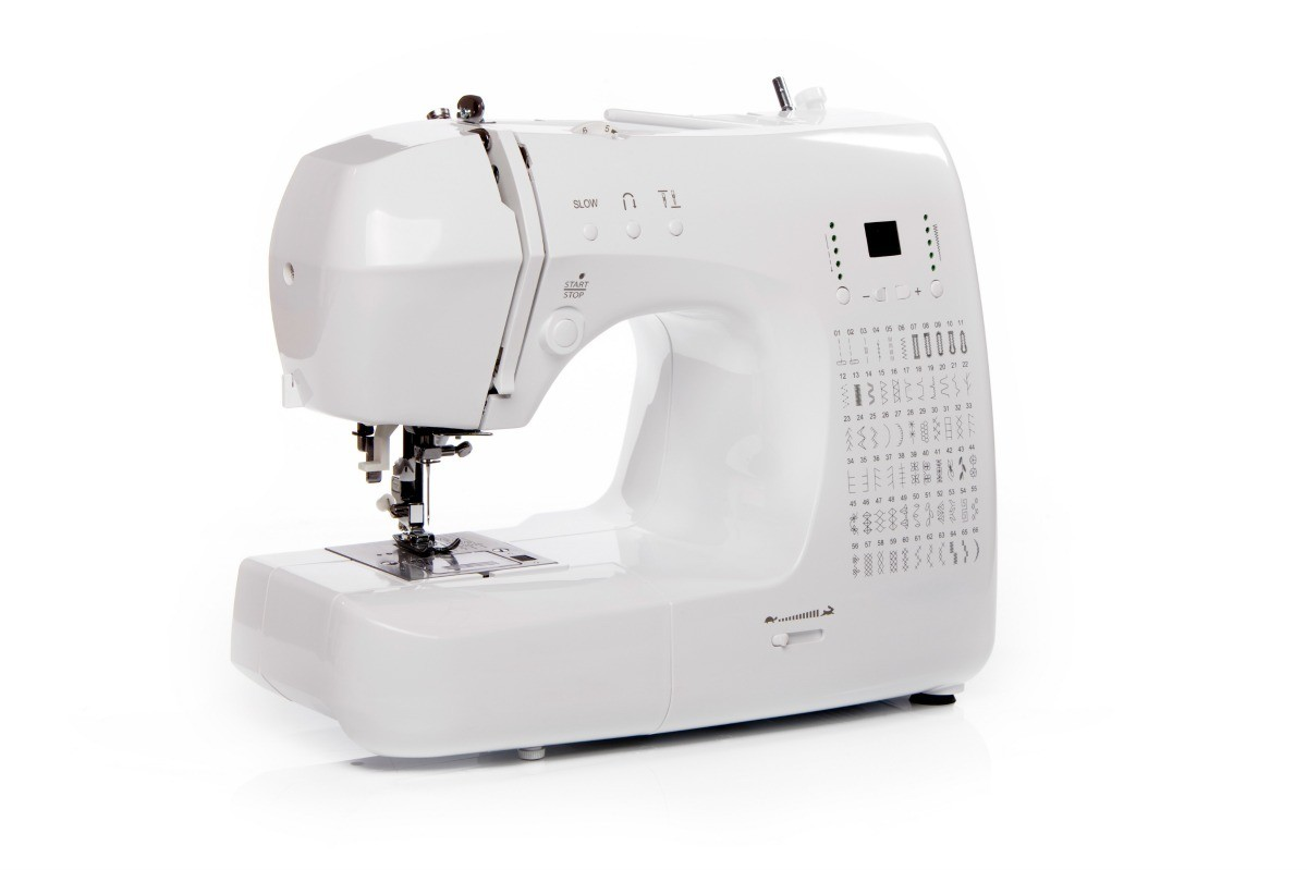 hight resolution of a sewing machine on a white background