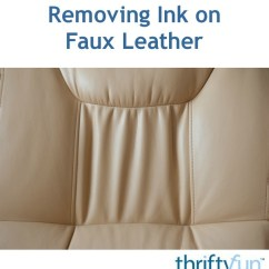How To Get Rid Of Ink Marks On Leather Sofa Fabric Suppliers Removing Faux Thriftyfun