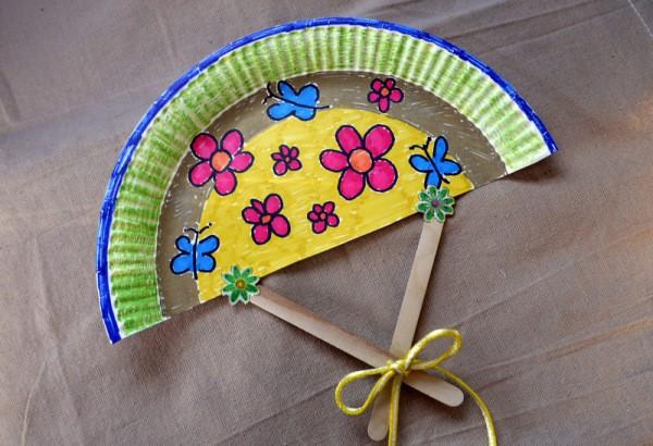Paper Plate Fan ThriftyFun