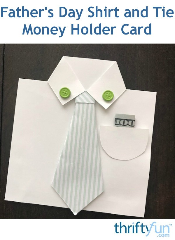 How To Make A Father S Day Shirt And Tie Money Holder Card