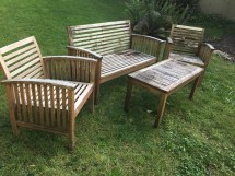 refinishing teak outdoor furniture