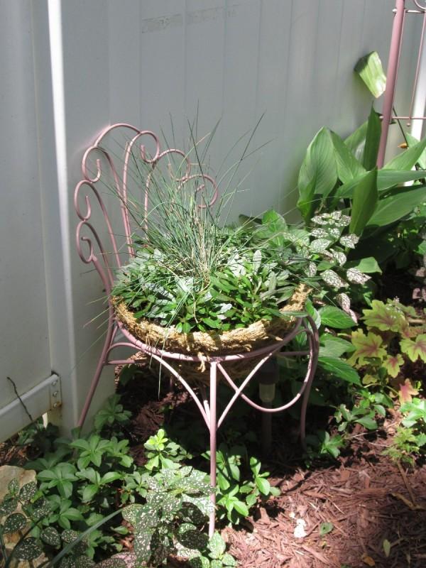 Thrift Store Garden Chair Planter  ThriftyFun