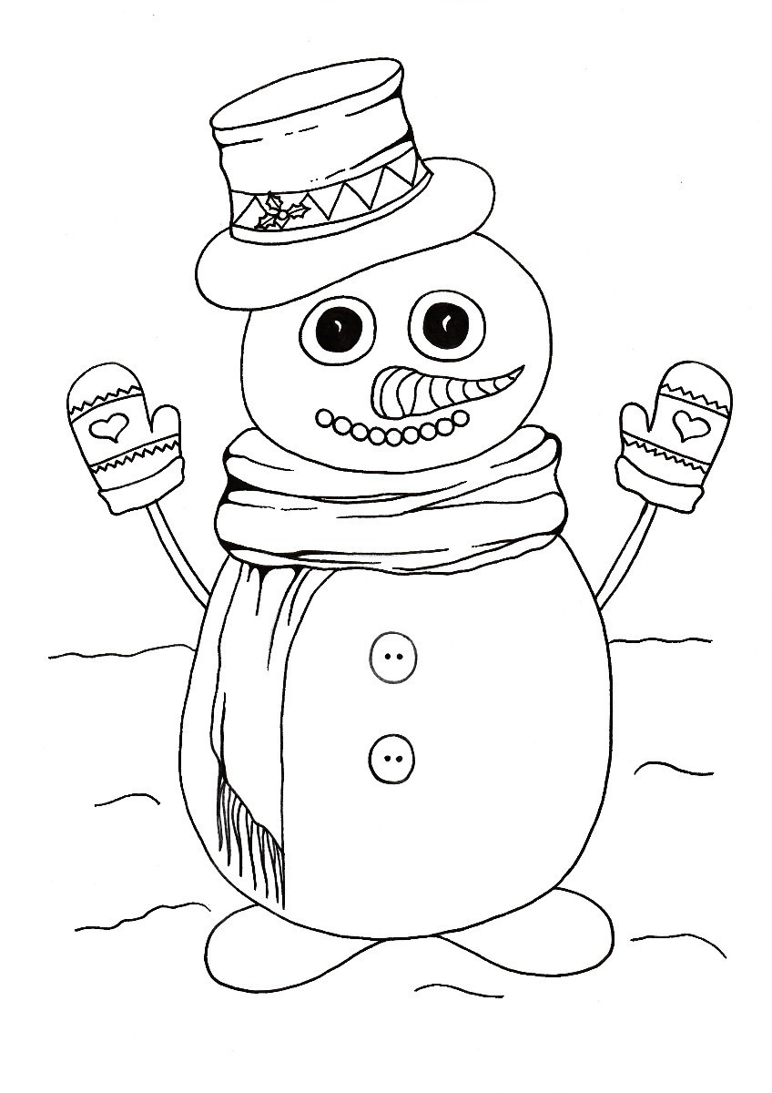 'Do You Wanna Build a Snowman' Kids' Coloring Page