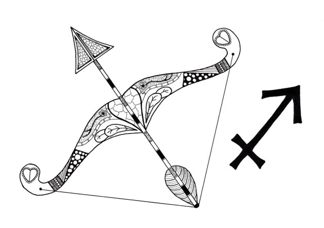 Sagittarius Adult Coloring Page  ThriftyFun