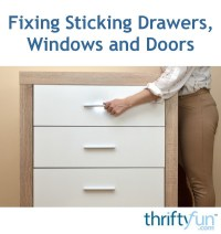 Fixing Sticking Drawers, Windows and Sliding Glass Doors ...