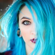 adding blue hair dye previously