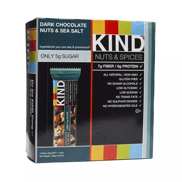 Chocolate Nuts amp Sea Salt Bar by Kind Thrive Market