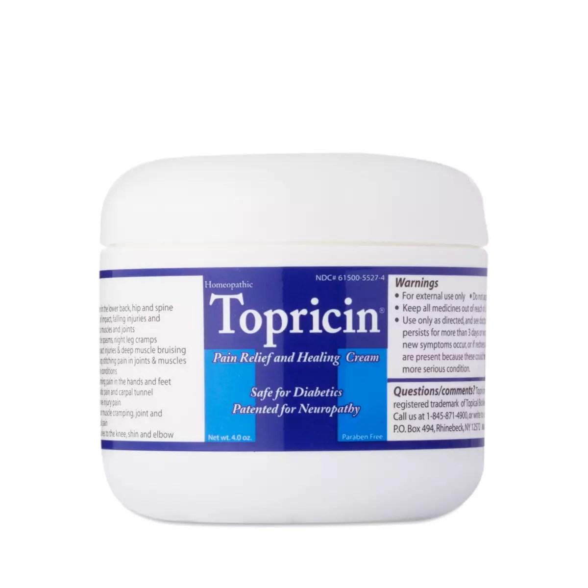 4 oz Jar Topricin Pain Cream by Topical Biomedics Thrive