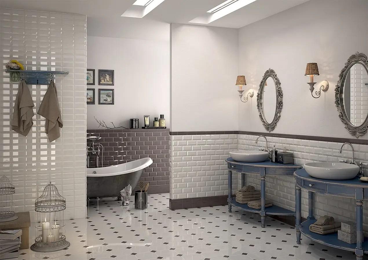 Mobili da bagno rustici piastrelle per bagno diverse stile