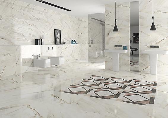 Calacatta Porcelain Tiles by Roca TileExpert