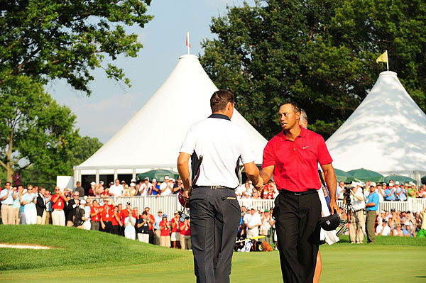 Padraig Harrington, Tiger Woods, Bridgestone Invitational