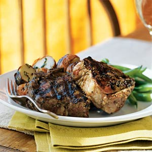 Herbes de Provence-Crusted Lamb Chops from Cooking Light