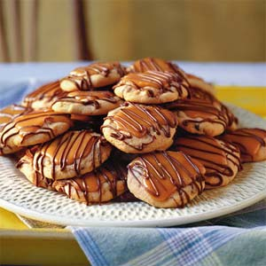 Peanut Butter-Toffee Turtle Cookies from Southern Living