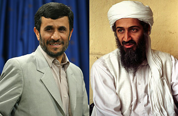 Osama bin Laden Mahmoud Ahmadinejad