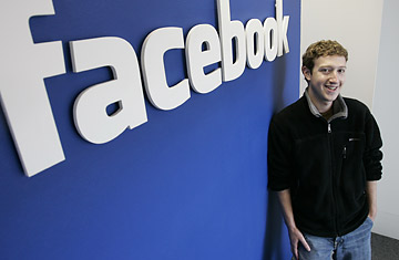 Facebook.com's mastermind Mark Zuckerberg