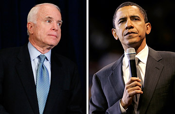 Sens. John McCain and Barack Obama