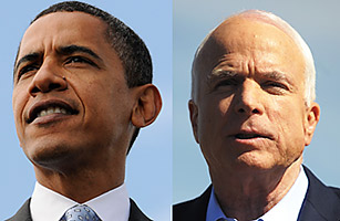Obama and McCain race for the White House