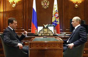 Signs of Tension Between Putin and Medvedev?