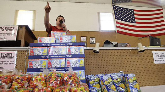 Canned Ham, Going Once, Going Twice: Grocery Auctions Soar