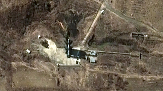 A North Korean missile launch pad. Image from time.com.
