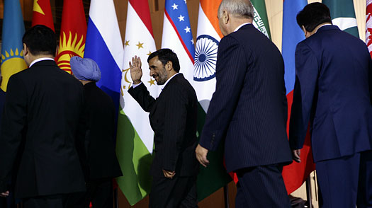 Unbowed, Ahmadinejad Shows Up in Russia