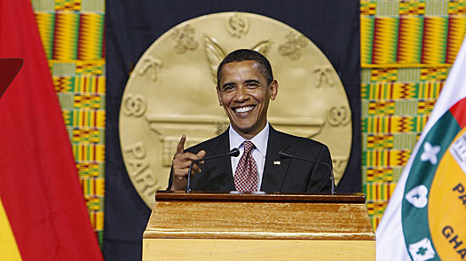 Obama in Ghana Preaches Unity and Action
