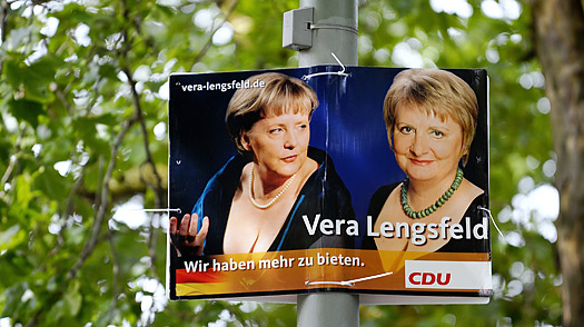 Busting Out: German Candidate Plays the Cleavage Card