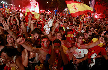 Spains World Cup Win Final Brings Spaniards Together  TIME