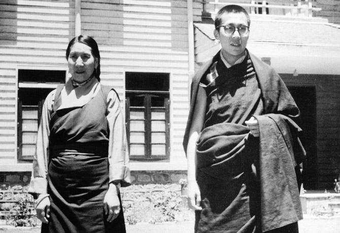 Tenzin Gyatso, the 14th Dalai Lama, and his mother  |  Source, courtesy & more: http://www.time.com/time/magazine/article/0,9171,864579,00.html#ixzz1pPPL4MwE  |  The Dalai Lama Escapes from the Chinese - TIME
