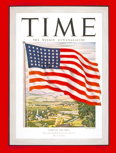 Cover of Time Magazine, July 6, 1942,