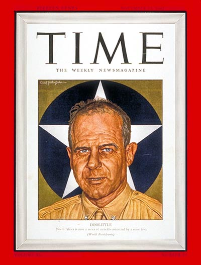 TIME Magazine Cover James H Doolittle Nov 23 1942
