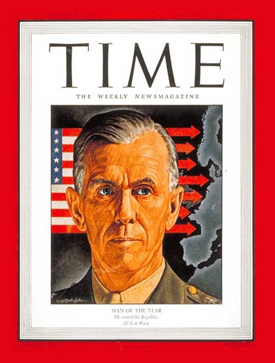 TIME Magazine Cover: General George Marshall, Man of the Year -- Jan. 3, 1944