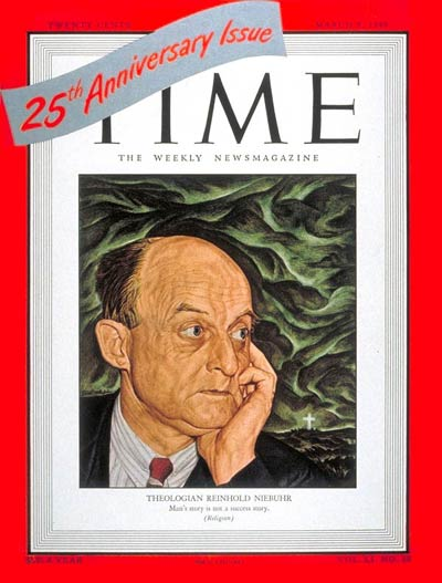 TIme Magazine Cover of Reinhold Niebuhr