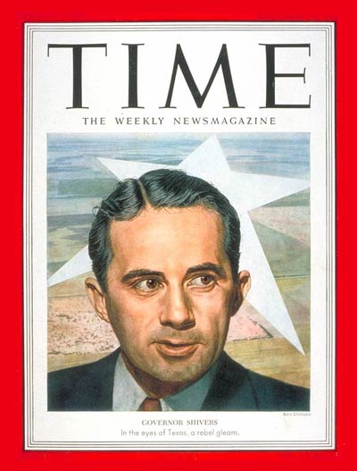 TIME Magazine Cover Allan Shivers  Sep 29 1952