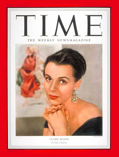 TIME Magazine Cover Claire Bloom  Nov 17 1952