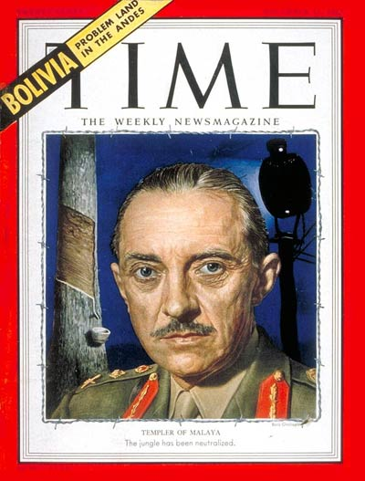 TIME Magazine Cover Sir Gerald Templer Dec 15 1952 Great Britain Military