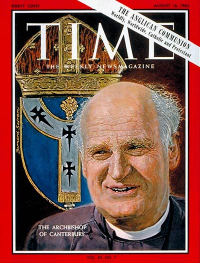 TIME Magazine Cover Arthur Michael Ramsey  Aug 16 1963