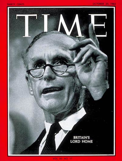 TIME Magazine Cover Sir Alec DouglasHome  Oct 25 1963